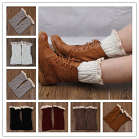NEW  Spring Women leg warmers lace boot socks knit short boot socks knitted boot cuffs Accessories 8color Drop shipping