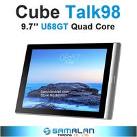 "Cube TALK98 U58GT Quad Core 9.7"" 2048*1536 Screen Android 4.2 2GB RAM 16G ROM MTK8315 Quad Core 3G Phone Tablet PC GPS Bluetooth"