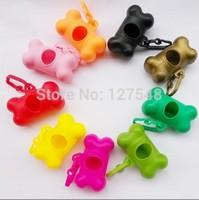 Big Promotion!!! 1 PCS Pet Dog Bags Case Bone Type Dispenser For pet waste bags,products for dogs Wholesale & Retail