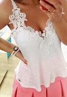 Plus Size 2015 Women Clothing New Women's tanks White Lace Women Tops Female Floral Lace Chiffon Blouse Lace Blusas Tops S-2XL