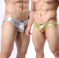 Male sexy gold silver stage fun underwear men briefs pure M L XL 1pc