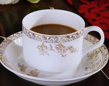 Fashion Europe 15pcs bone china coffee cup sets ceramic gold trim tea cup sets coffee pot