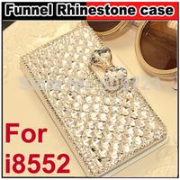 Luxury Diamond Rhinestone leather case cover For Samsung Galaxy Win i8552 i8558 i8550
