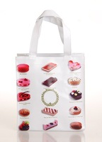 Free Shipping Small Size Eco-Friendly Vinyl Shopping Bags With Food Patterns- 6 Patterns