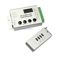 Free Shipping remote with SD card RGB controller aluminum shell for LPD8806,WS2801,WS2811,WS2812B,UCS1903,UCS6803,DMX512
