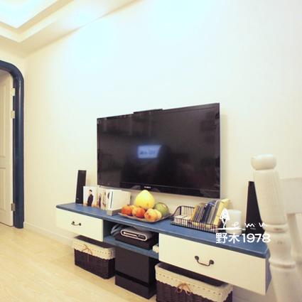 Mediterrane minimalistische moderne tuin houten muur kasten alle hout slaapkamer woonkamer tv - Kleur muur slaapkamer kind ...