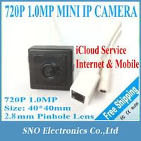Sno Korea CCTV Onvif 1MP 1080X720P H.264 Plug&Play p2p 720P Mini Pinhole Security Ip camera Network Surveillance Camera