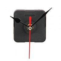 Free Shipping 20pcs/lot Clock Movement Mechanism with Black Hour Minute Red Second Hand DIY Tools Kit