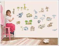 9155 animals puma giraffe dinosaur elephant wall stickers decoration decor home decal fashion cute waterproof bedroom living