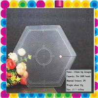 free shipping 2.6 mini hama beads hexagon pegboard for diy educational craft fuse beads pegboard
