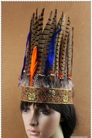 Indian feather hair accessory hair rope cow muscle very polular headband