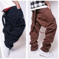 Men's Clothing Fashion Male Loose Plus Size Trousers Pantalones Hombre calcas masculinas Drop Crotch Men Harem Hip Hop Pants