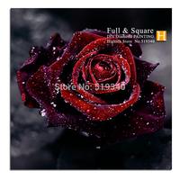 Embroidery Cross Diamond violet rose 50x50cm Diy Diamond Painting Set Handcraft Square Stick Rhinestone Pasted Decorative