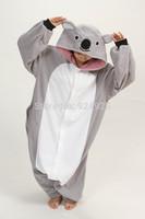 Animal cos Koala Pajamas Adult Women Men Flannel fleece hoodie Onesie Costume christmas clothes Halloween sleepsuit dress
