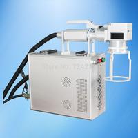 CE ROHS handheld optic fiber laser marking machines for auto parts,portable fiber laser marking machine for metal parts