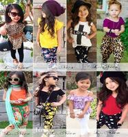 2015 summer new European American style 2 pcs children's girls clothing set suit fashion 8 style kids girls clothingsize 80-120