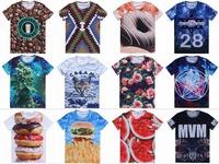 shirts 2015 new 3D T-shirt women t shirt men on both sides of shirts printed cotton tops short-sleeved men's summer size tee