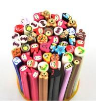 free shipping 50 pcs Animal shape Fimo Canes type 3D design Rods Sticks Sticker DIY Slice Tips Decoration/nail art tools