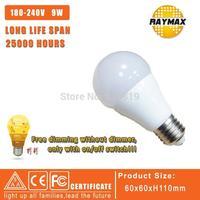 1PCS/LOT LED Dimmable bulb 110V/220V 9W Led Bulb E27 Led dimming bulb E27 360 Degree Warm White DIM WITHOU DIMMER  LED Light