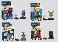 8pcs SY258 Super Heroes Avengers Minifigures Heroes Assemble Action Figures Bricks Black Galactus Widow