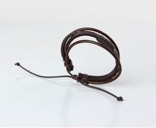 Fashion Wrap Multilayer Genuine Leather Braided Rope Wristband bijouterie Cuff Men Jewelry Men s Love