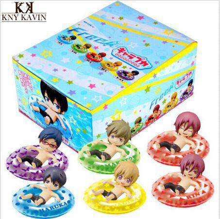 """watobi Swim Club Rin Macoto Haruka Nagisa Rei 2""""Mascot Anime Figure 6pcs Mascot Anime Collectibles Figurine Brand New in Box(China (Mainland))"""