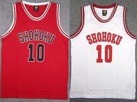 Pure Cotton High Quality SLAM DUNK Shohoku Basketball Jersey Number 10 Sakuragi Basketball Jersey Retro Basketball Jersey