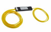 Free shipping,1 * 2 headless singlemode fiber splitter, 2mm fiber (50:50)Light ratio customized