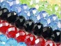 YBB Wholesale 6mm Slice Spherical Beads Glass Crystal Space Beads DIY Craft Burn Pull Beaded Bracelet Accessories