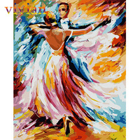 Frameless picture DIY diy digital oil painting  40X50cm paint by number kits VI196 As with Beckoning