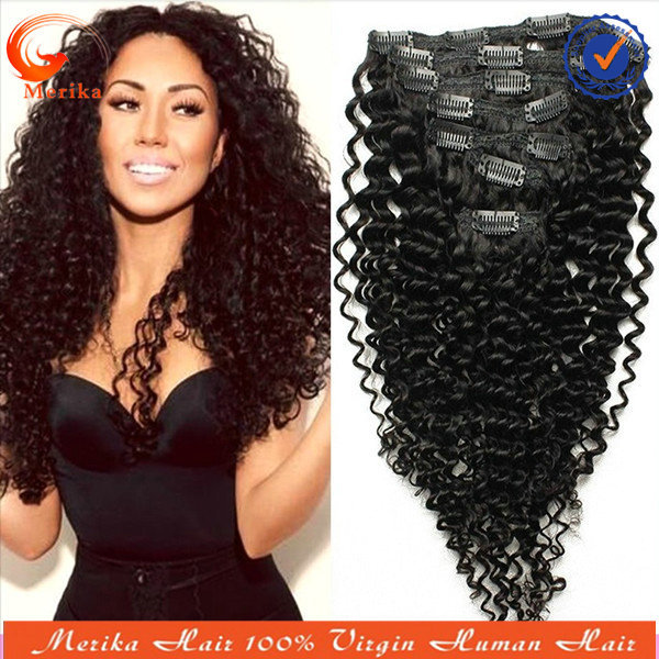 Brazilian Curly Remy Hair Extensions Curly Remy Clip in Hair