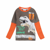 children clothes boys t shirt  brand kids wear printed dinosaur fashion spring/autumn long sleeve t shirt for boys A5423D