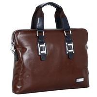 Men's Women's Vintage Versatile Solid Genuine Leather Briefcase Tote Laptop Bag