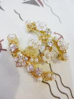Fashion crystal rhinestone flower brooch flower female