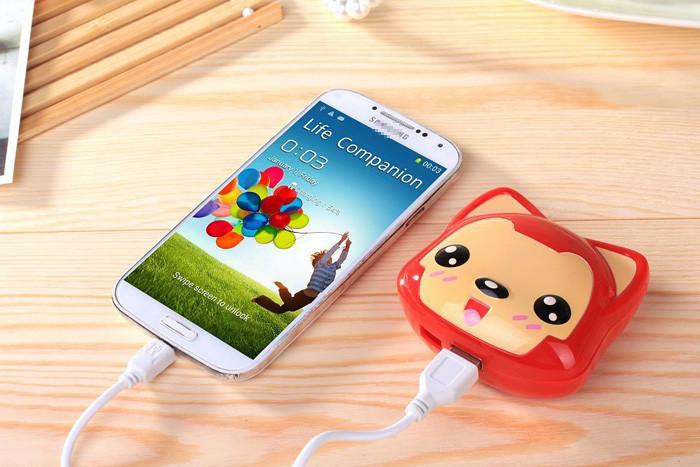 8pcs/lot Cartoon lovely Ali fox power bank 8800mah chargers for iphone6 Samsung S4/ipad/xiaomi External battery pack(China (Mainland))