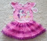 free shipping  my little pony girl's 100% cotton princess dresses,children's short-sleeve dresses