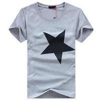2015 Brand Men's Cotton loose Pentagram T-shirt New Fashion Large Size Men's Short-sleeve T-shirt