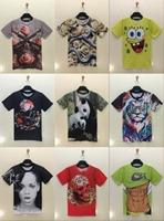 t shirt 2015 latest 3D landscape shirts panda T-shirt printed on tee both sides T-shirts hot tshirt models casual tops