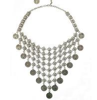 2015 Fashion Brand Craving Flower Coin Long Pendant Statement Handmade Women Vintage Long Necklaces Boho Design Jewelry