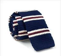 Brand Men's Knitted Narrow Slim Skinny Woven Tie Necktie New Fashion Men's Colourful Knit Tie