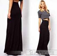 2015 European Fashion Women Length Chiffon Beach Skirt Lady Sexy High Waist Womens Skirts DQ126