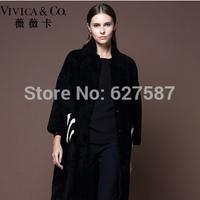 2015 new fashion Ladies Genuine lamb Fur Coat Winter Women real mongolian lamb Fur Outerwear Coats