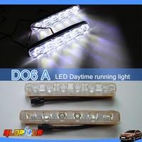 HOT sale !!  2PCS 12V DC 6W Car LED Day time running lights  high quality SPOT beam daytime running light for honda city