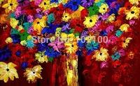 Handmade abstract art painting flowers