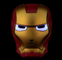 Iron Man Mask with Flexible Strap LED Light Eye Face Mask Masquerade Cosplay Costume Halloween