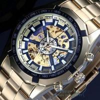 WINNER Luxury Watch Men Skeleton Auto Mechanical Watches Wristwatch Gift Free Ship