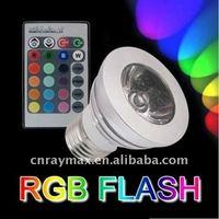 Rgb Led Bulb Lamp Remote Control,3W light E27 LED Bulb Rgb Spotlight ,85-265V