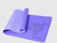 Lovers love sports pad Children 's gymnastics exercise 4 mm TPE yoga mat Avirulent insipidity High precision carving-roses DH14#