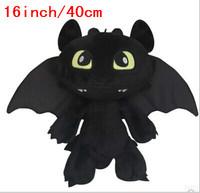 Low price! Gragon 2 Night Fury Plush Toy How To Train Your Dragon 2 Plush Toy 16inch/40CM Toothless Dragon Stuffed Animal Dolls