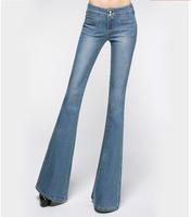 2015 Spring/Autumn Women's Fashion Stretch Bell Bottom Jeans Female Woman Designer Elastic Flare Denim Pants Trousers